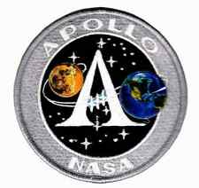 Patch NASA APOLLO Programme de la Terre à la Lune Thermocollant