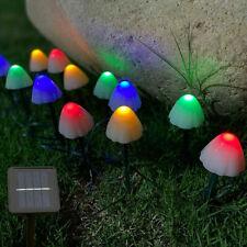 LED Outdoor Solar String Mushroom Lights Garden Ornaments Yard Landscape Lawn