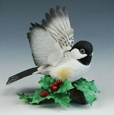 Vintage Lenox Garden Birds Chickadee Porcelain Figurine