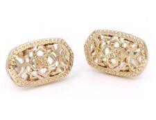 Gold Filigree Earrings Studs Kendra + Chloe Design by Isabel J. Scott New