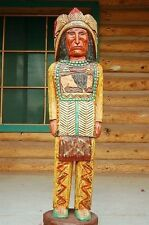 4' Cigar Store Wooden Indian Chief by Gallagher Native American Made in USA