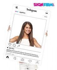 A1 2017 White Instaframe - Instagram Selfie Board Frame Wedding Birthday Hendo
