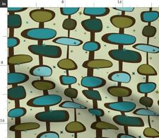 Mid-Century Mid Century Moderne Retro Vintage Fabric Printed by Spoonflower BTY