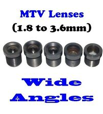 Sunvision CCTV Monofocal Board Mount M12 / MTV Wide Angle Lens Set (set of 5)