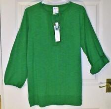 NEW QUALITY GREEN BEING CASUAL TIE NECK TAB SLEEVE TOP  SIZE 16/18 # 496