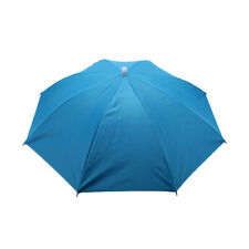 Outdoor Angling Headwear Polyester Canopy Umbrella Hat Cap Sky Blue