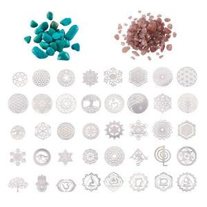 Platinum Brass Geometry Orgone Chakra Self Adhesive Sticker For Expoxy Resin