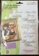 JustRite Cherish The Memories Nested Sentiments * New* 8 Pcs