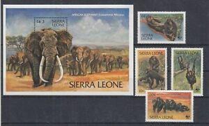 Sierra Leone 713 - 16+ Block 15 Ape Elephant (MNH)