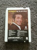 8 Track Cartridge Al Martino My Heart Sings Vintage Rare Authentic