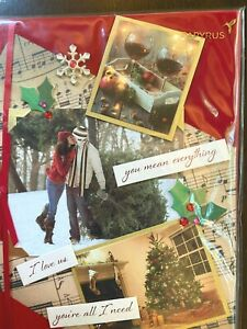 Papyrus Christmas Card - you mean everything / I love you / you're all I need