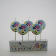 Set of 5 Disney Minnie Mickey Mouse Themed Birthday Cake Candles
