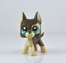 Littlest Pet Shop LPS Brown Great Dane Dog Puppy Blue Dot Eyes Toy #1519 Xmas