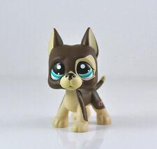 Littlest Pet Shop LPS Brown Great Dane Dog Puppy Blue Dot Eyes Toy #1519 Xmas