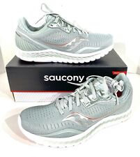 Saucony Kinvara 11 Women's Size 8.5 Sky Grey/Coral Athletic Running Shoes X5-88