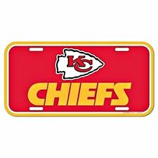 Kansas City Chiefs Plastic License Plate Auto Tag Wall Sign 6x12 FAST SHIP