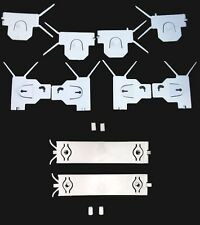81-88 Oldsmobile Cutlass Supreme Brougham Chrome Lower Molding Clips full set