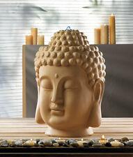 "LARGE zen garden 18"" Buddha head bird bath meditation yoga patio Fountain statue"