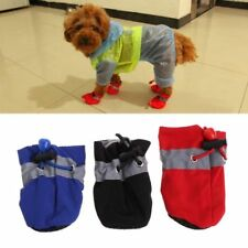 Waterproof Dog Rain Shoes Snow Booties Rubber Anti-slip Shoe for Small Dog Puppy