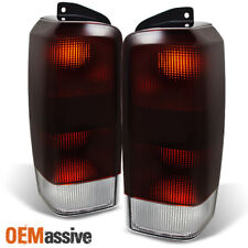 Fit 97-01 Jeep Cherokee Dark Red Tail Lights Brake Lamps Replacement L+R