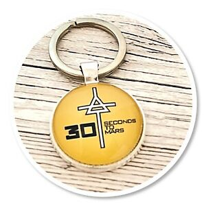 *30 seconds to mars* Echelon 30STM Triad keyring key ring yellow