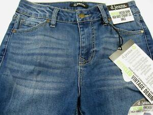 NWT Women's  D. Jeans Sz 6 High Waist Straight Leg Ankle Vintage Denim