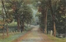Vintage Postcard Road between Poughkeepsie & Wappingers Falls New York color