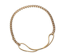 Cleopatra- 80's Golden Chain & Dual Strand/Metal & Elastic Hair Band(Zx287)