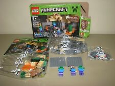 LEGO Minecraft Dungeon 21119 219pcs Blocks Zombies opened 2/3 bags sealed