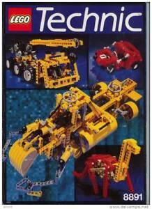 livre d´idées lego technic 8891 de 1987