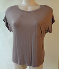 Brown Sugar Stretch Short Sleeve Taupe Summer Top Size 10 Bamboo