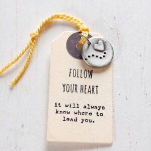 Kutuu Pewter Charm - Follow your heart
