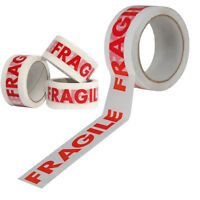 6 ROLLS OF FRAGILE PRINTED PACKING PARCEL CARTON SEALING TAPE 48MM X 66M