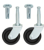 Single Wheels Castors - for Divan beds,Furniture,Chairs, black M8 Thread x 8