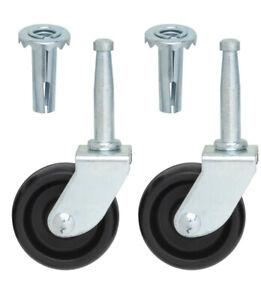Single Wheels Castors - for Divan beds,Furniture,Chairs, black M8 Thread x 8