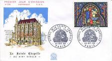 FRANCE FDC - 584 1492 1 VITRAIL DE LA SAINTE CHAPELLE - GF 22 Octobre 1966 -LUXE