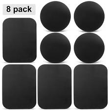 8 Pack Mount Metal Plate, Volport Universal for Magnetic Phone Car Holder Cradle