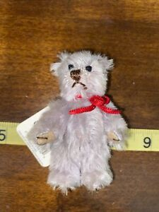 Vintage GUND Theo 9616 Mohair Collection Mini Teddy Bear with Tags