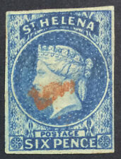 MOMEN: ST HELENA SG #1 IMPERF 1856 USED £200 LOT #5185