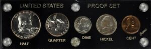 1950 US Proof Set in Black Holder Toning