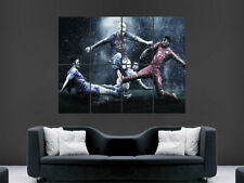 LIONEL MESSI POSTER PRINT SOCCER FC BARCELONA THE GOAT FOOTBALL ART LARGE