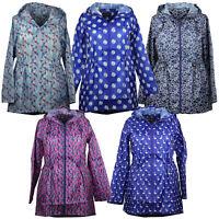 Ladies Parka Kagool Jacket Womens Cagoule Rain Printed Hooded Fish Tail Trench