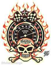Mini Size Vince Ray Sticker Decal Throttled VR28B