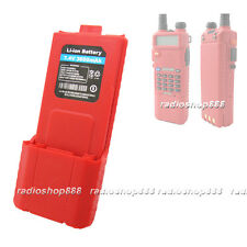 New Arrival Double Capacity 7.4V 3600mAH Li-ion Battery *RED*  For BAOFENG UV-5R