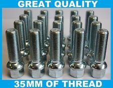 20 X M12 X 1.5 35MM RADIUS LONG EXTENDED ALLOY WHEEL BOLT VW POLO MK1 MK2 MK3