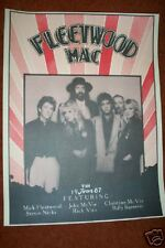 "FLEETWOOD MAC  1987  TOUR  POSTER  23 x 17 1/2""  UNUSED"