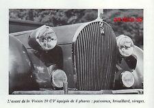 PUBLICITE  AUTOMOBILE VOISIN 20 CV CALANDRE MASCOTTE MASCOT CAR AD 1938  RARE !!