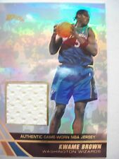 2004 TOPPS BASKETBALL GAME JERSEY KWANE BROWN  WIZARDS  JE-KB   B54