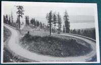 Seaside Oregon Widby Loops Coast Highway antique Prentiss RPPC