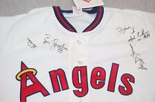 California Angels 1992 Autographed Jersey 5 signatures-FREE Ship USA